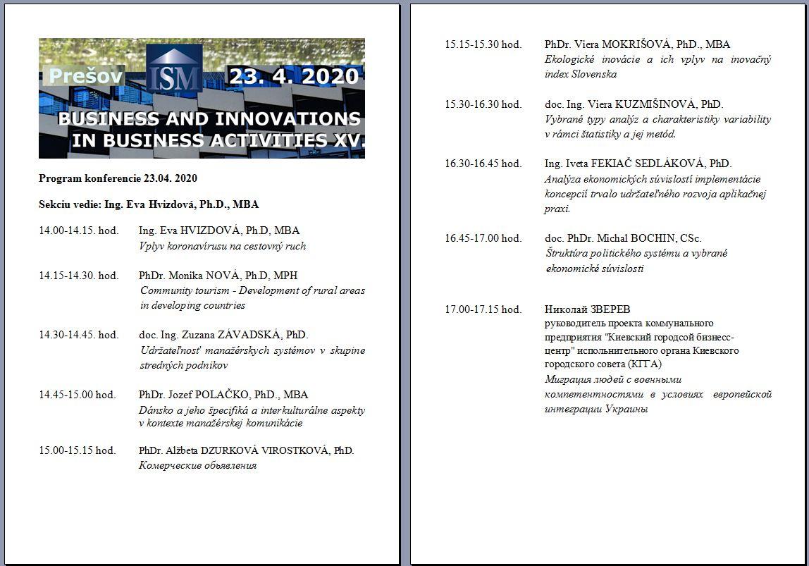 program sekcie business