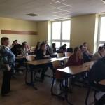 Prednáška organizácie Workspace o študentských stážach programu ERASMUS+ 2018